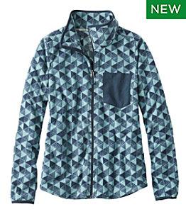 Women's Trail Fleece Full-Zip Jacket, Print