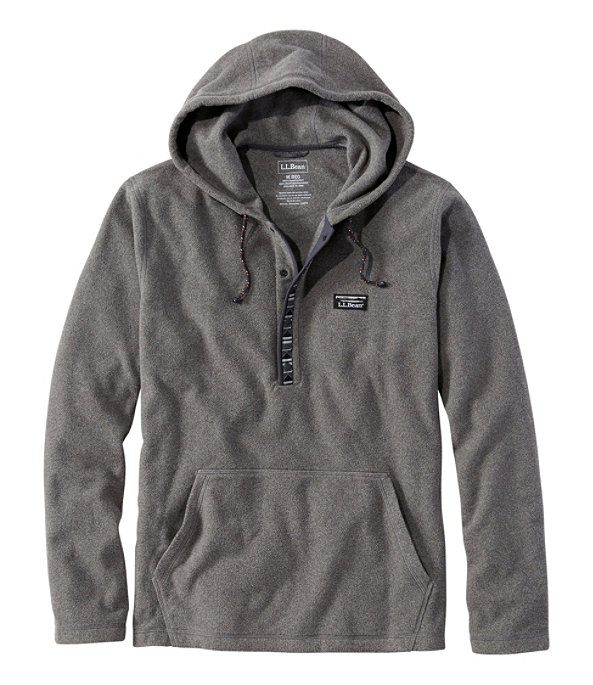 Trail Fleece Hooded Pullover, Gray Heather, large image number 0