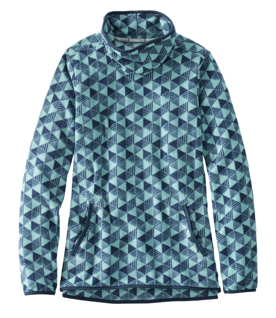 Women's Trail Fleece Funnelneck Pullover, Print