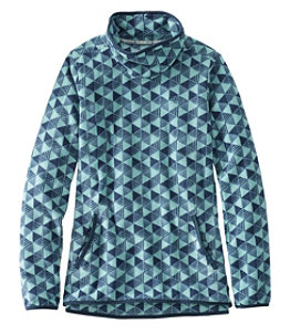 Women's Trail Fleece Funnelneck Pullover, Print