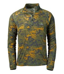 Men's Cresta Wool Midweight Quarter-Zip Base Layer, Camouflage