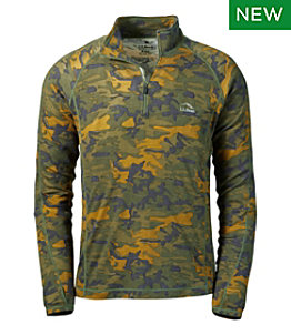 Men's Cresta Wool Midweight Quarter-Zip Base Layer, Camouflage