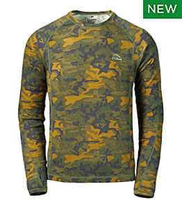 Men's Cresta Wool Midweight Base Layer, Crew Camouflage