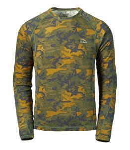 Men's Cresta Wool Midweight Base Layer, Crew Camouflage