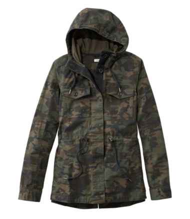 Women's Hooded Ripstop Jacket, Camo
