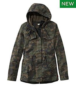 Women's Hooded Ripstop Jacket, Camo