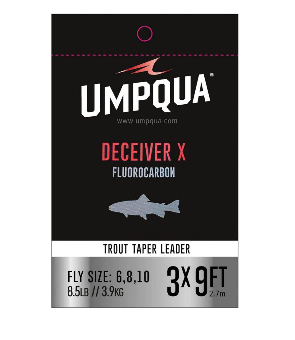 Umpqua Deceiver X Fluorocarbon Leaders, 9'