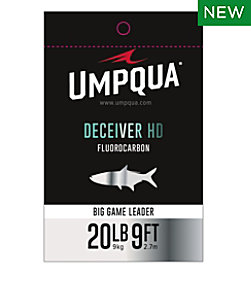 Umpqua Deceiver HD Big Game Fluorocarbon Leader, 9'