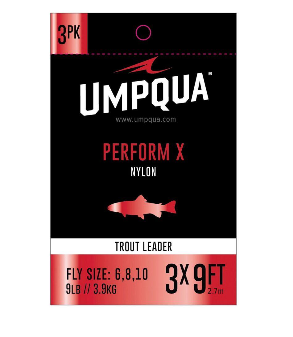Umpqua Perform X Trout Leader. 9' 3-Pack
