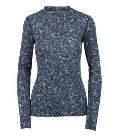 Women's L.L.Bean Lightweight Crew Base Layer, Long Sleeve Print