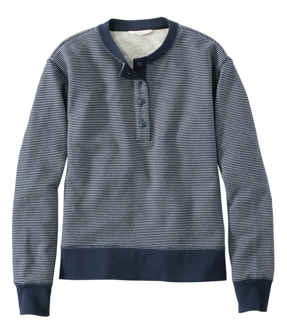 Signature Organic Cotton Sweatshirt, Henley Stripe