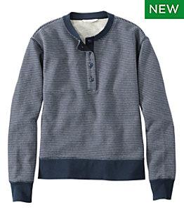 Women's Signature Organic Cotton Sweatshirt, Henley Stripe