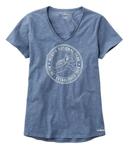Women's Organic Cotton Tee, V-Neck Short-Sleeve National Parks