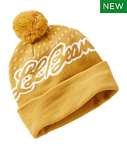Adults' Katahdin Pom Hat, L.L.Bean Logo