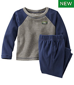 Toddlers' Fitness Fleece Long-Sleeve Tee/Pants Set, Colorblock