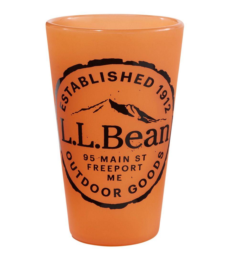 L.L.Bean Silipint Pint Glass, Wood Grain