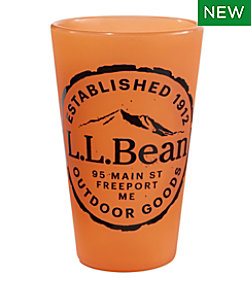 L.L.Bean Silipint Pint Glass, Wood Grain