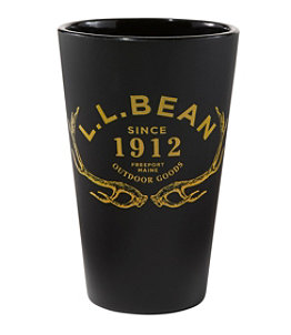L.L.Bean Silipint Pint Glass, Antlers