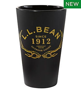 L.L.Bean Silipint Pint Glass, Antlers