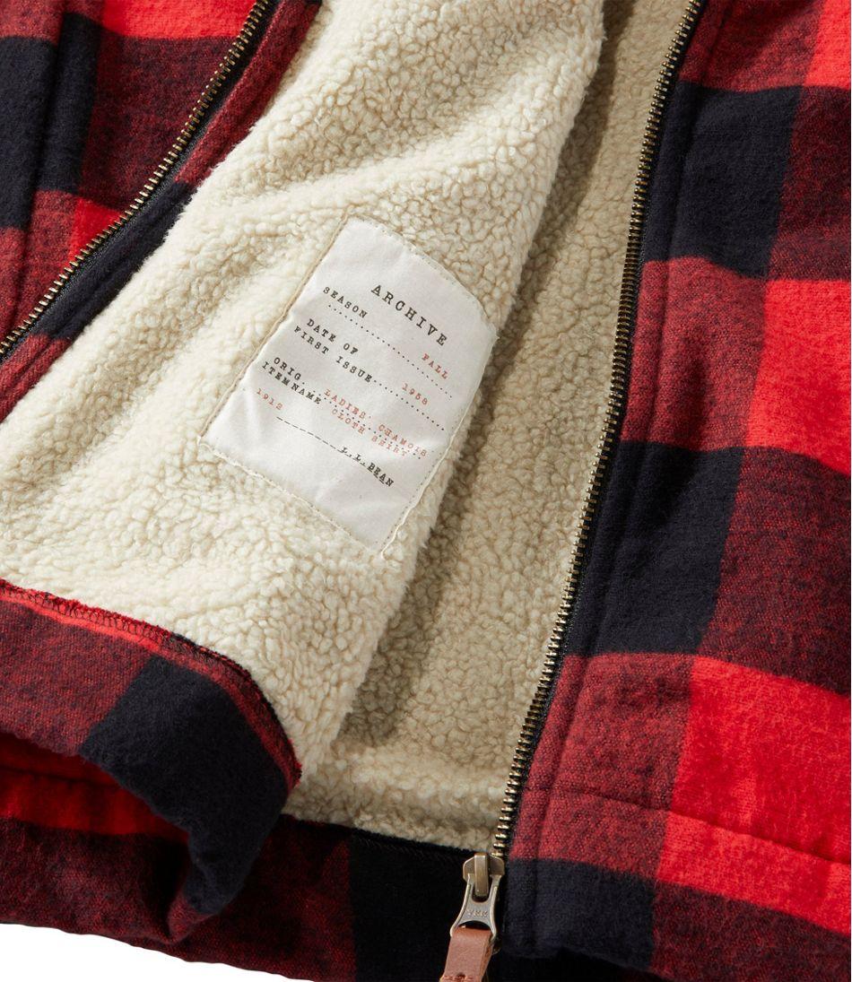 Women's Signature Chamois Zip Shirt, Sherpa-Lined