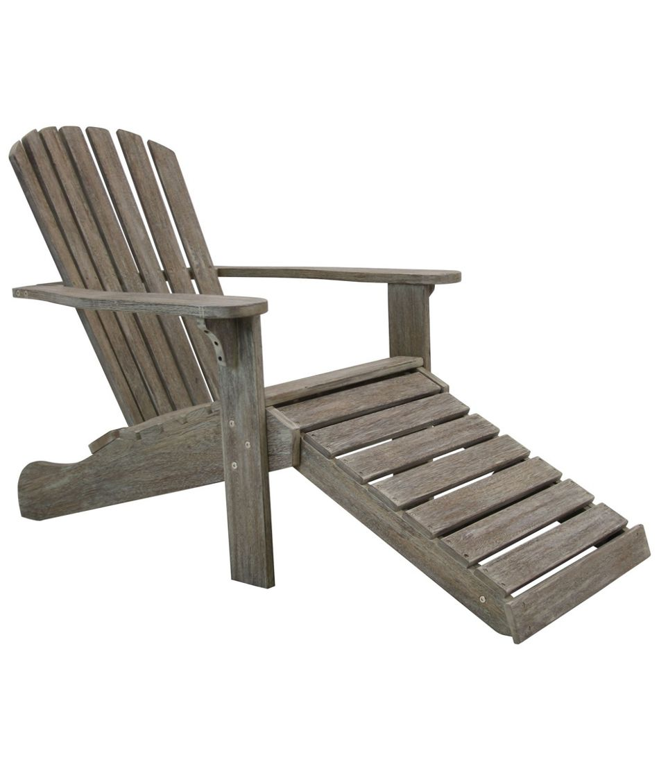 Eucalyptus Adirondack Lounger, Gray Washed