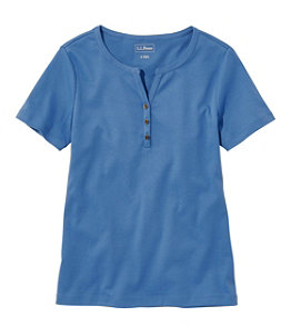 Women's L.L.Bean Tee, Short-Sleeve Splitneck Henley