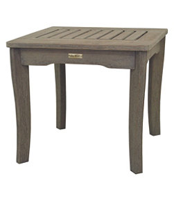 Eucalyptus End Table, Gray Washed