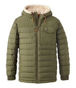 Men's Mountain Classic Down Hooded Jacket, Sherpa-Lined