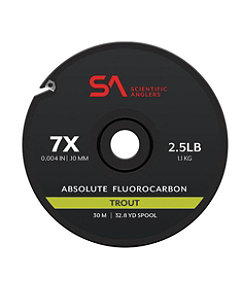 Scientific Anglers Absolute Trout Fluorocarbon Tippet, 30 Meters