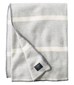 Washable Wool Blanket, Stripe