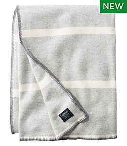 Washable Wool Blanket, Stripe