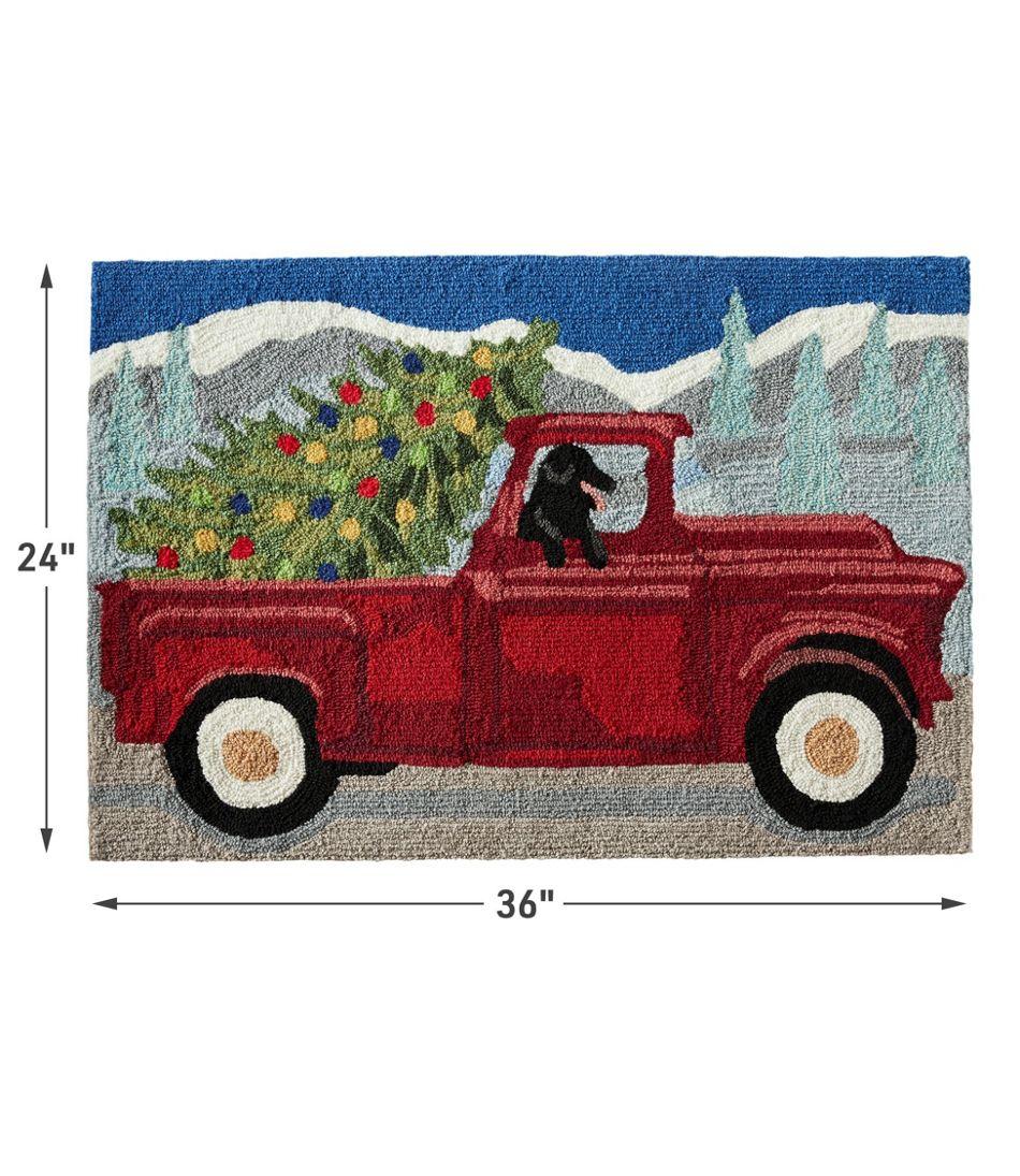 Indoor/Outdoor Vacationland Rug, Red Truck