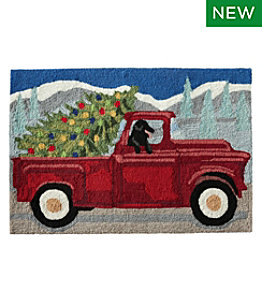 Indoor/Outdoor Vacationland Rug, Red Truck