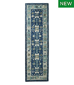 Double Border Wool Hooked Runner