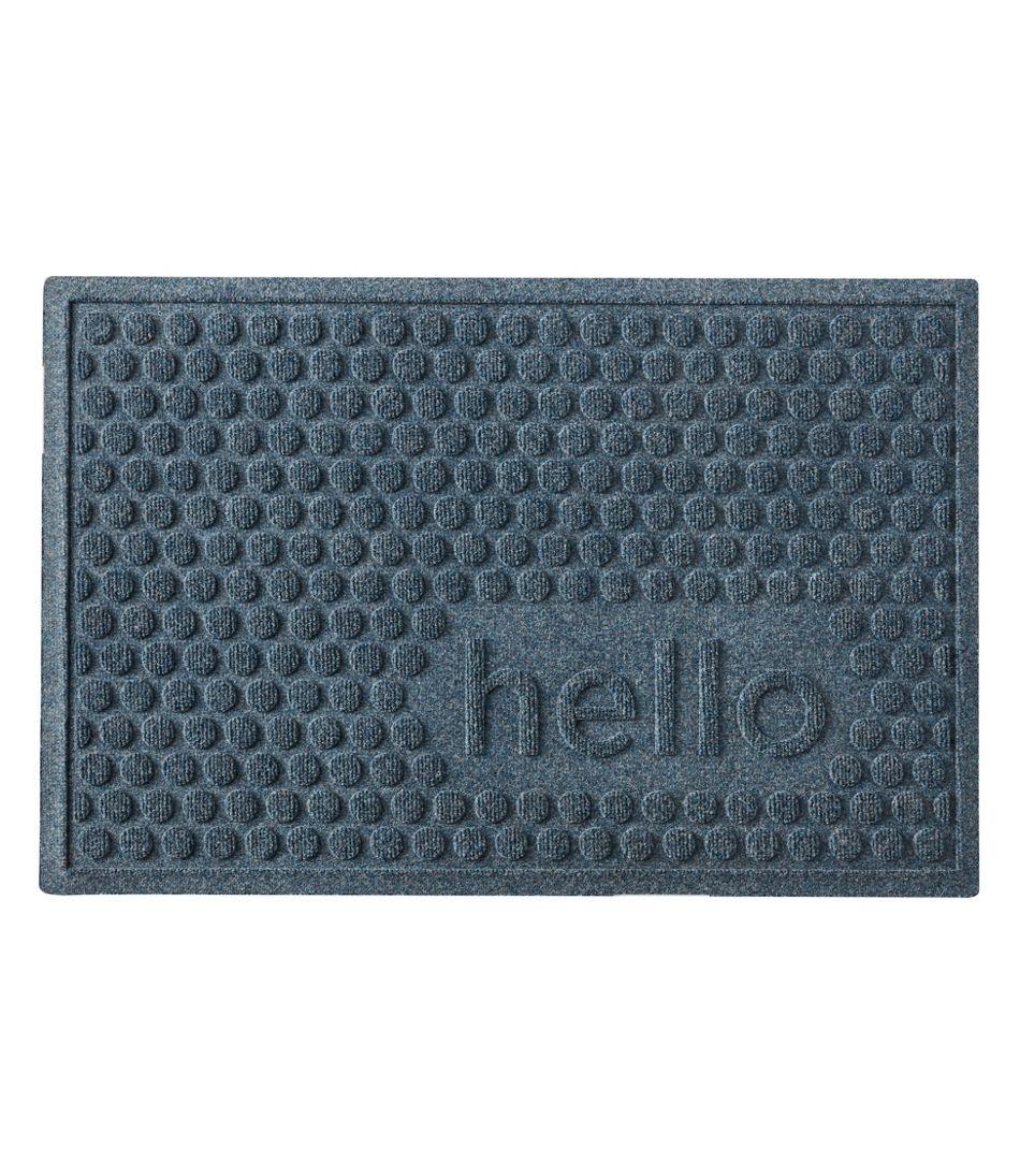 Everyspace Recycled Waterhog Doormat, Hello Circles