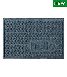 Everyspace Recycled Waterhog Doormat, Hello Circles