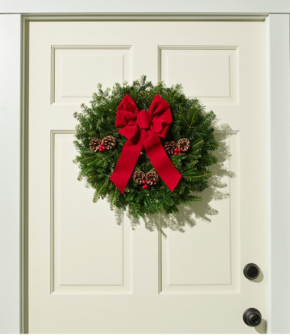 """Traditional Balsam Wreath, 20"""", One Color, large image number 0"""