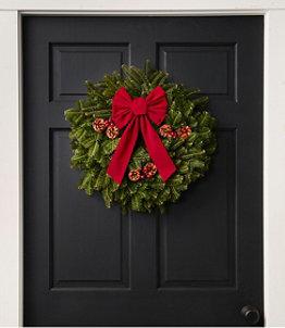 "Traditional Christmas Balsam Wreath, 20"""