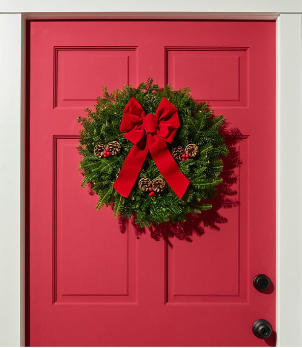 """Traditional Balsam Wreath, 20"""", One Color, large image number 1"""