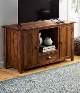 Rustic Wooden Entertainment Console, 4'
