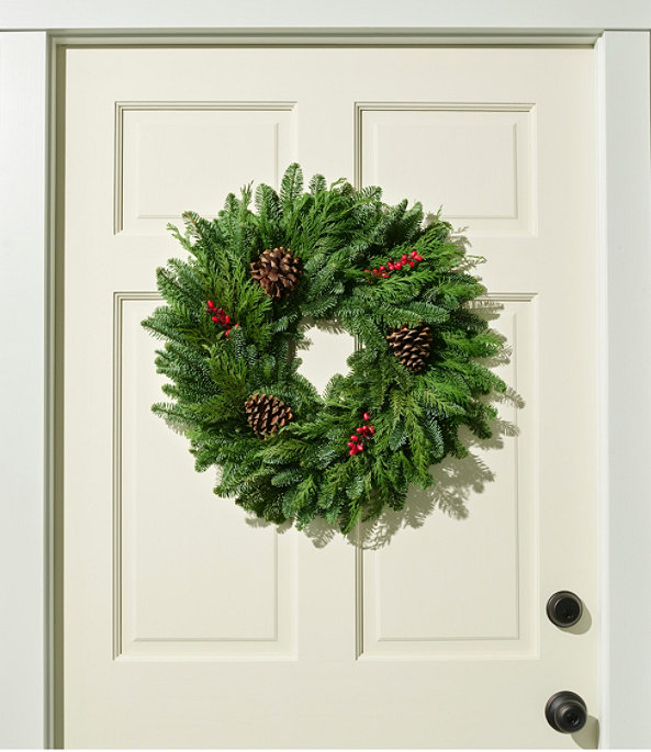 """Woodland Berry Wreath, 20"""", One Color, large image number 0"""