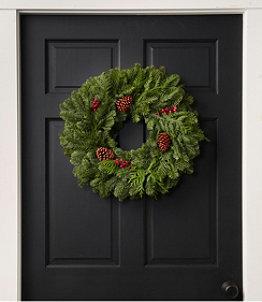 "Woodland Berry Wreath, 20"""