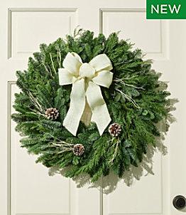 """Winter Woods Wreath, 24"""""""