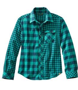 Kids' Flannel Shirt, Colorblock