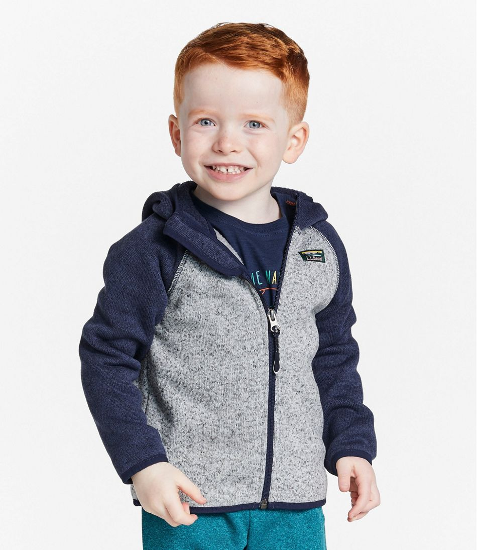 Infants' and Toddlers' L.L.Bean Sweater Fleece, Hooded, Colorblock