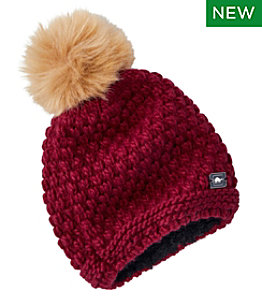 Women's Turtle Fur Snowfall Pom Hat
