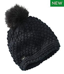 Women's Turtle Fur Snowfall Pom Hat