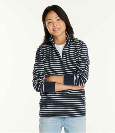 Women's Ultrasoft Sweats, Quarter-Zip Pullover Stripe