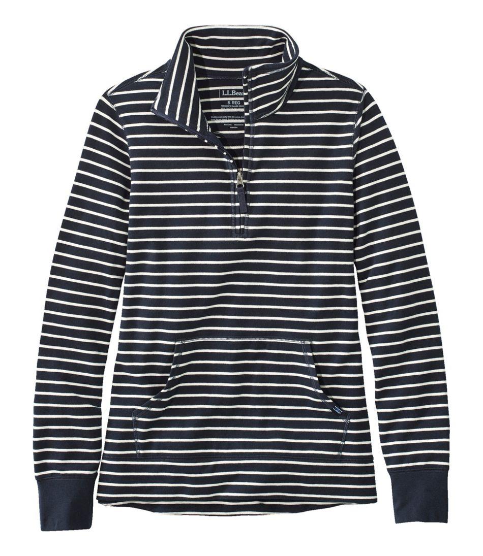 Women's Ultrasoft Sweats, Quarter-Zip Pullover Stripe