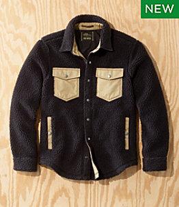Men's L.L.Bean x Todd Snyder Hi-Pile Sherpa Shirt Jacket, Snap-Front